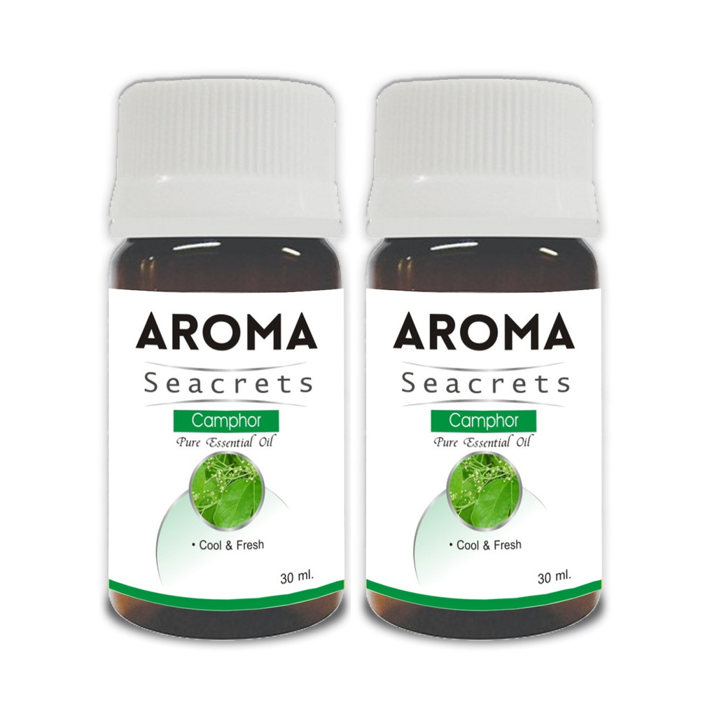 Aroma Seacrets Camphor Pure Essential Oil (30ml) - Pack of 2