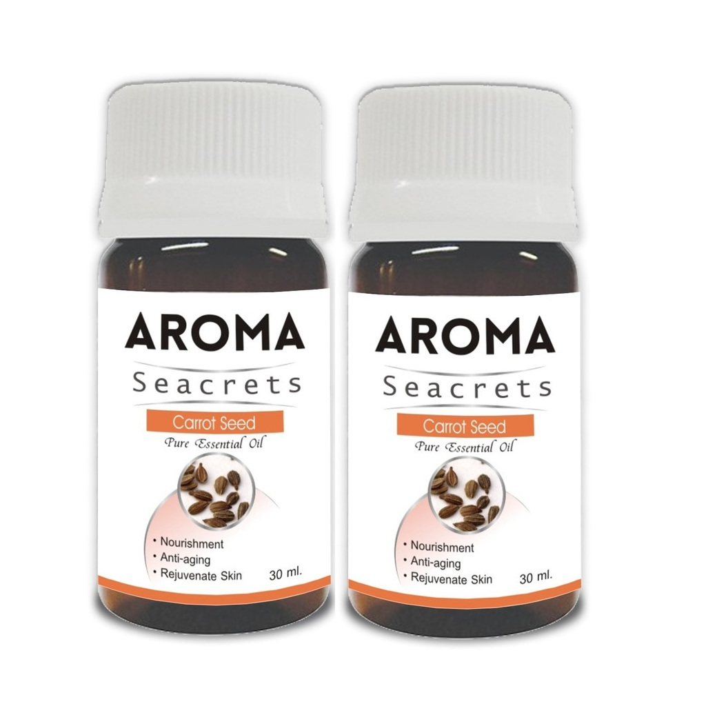 Aroma Seacrets Carrot Seed Pure Essential Oil (30ml) - Pack of 2